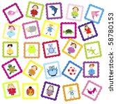 baby background with various...   Shutterstock .eps vector #58780153