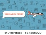 """airplane with banner """"christmas ...   Shutterstock .eps vector #587805020"""