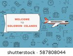 """airplane with banner """"welcome...   Shutterstock .eps vector #587808044"""