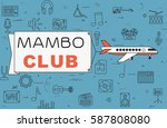 """airplane with banner """"mambo...   Shutterstock .eps vector #587808080"""