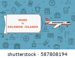 """airplane with banner """"made in...   Shutterstock .eps vector #587808194"""