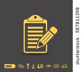 pictograph of note | Shutterstock .eps vector #587811398