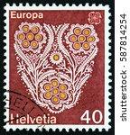 switzerland   circa 1976  a... | Shutterstock . vector #587814254