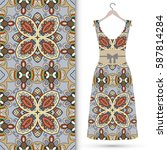 vector fashion illustration.... | Shutterstock .eps vector #587814284