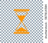hourglass vector icon on... | Shutterstock .eps vector #587814584