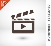 clapper board  icon. one of set ... | Shutterstock .eps vector #587816480