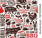 typographic vector barbecue... | Shutterstock .eps vector #587820440