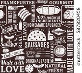 retro styled typographic vector ... | Shutterstock .eps vector #587820458