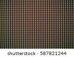 extremely closed shot of lcd tv ... | Shutterstock . vector #587821244
