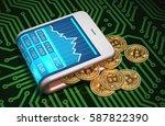 concept of digital wallet and... | Shutterstock . vector #587822390
