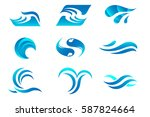 water logos set | Shutterstock .eps vector #587824664