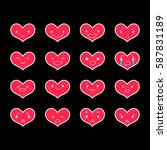 heart emoticons with different...   Shutterstock .eps vector #587831189