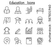 learning   education icon set... | Shutterstock .eps vector #587831960