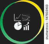 business graph set vector  icon | Shutterstock .eps vector #587833403