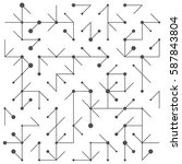 geometric lines and dots. line...   Shutterstock .eps vector #587843804