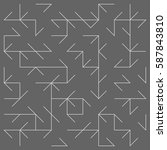 geometric lines and dots. line...   Shutterstock .eps vector #587843810