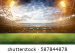 stadium in lights and flashes... | Shutterstock . vector #587844878