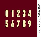 numbers with shabby texture | Shutterstock .eps vector #587845703