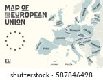 poster map of the european... | Shutterstock .eps vector #587846498