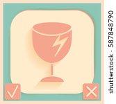fragile glass icon. logistics...   Shutterstock .eps vector #587848790