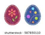 Set Of Colorful Sewing Denim...