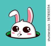 easter bunny. vector cartoon... | Shutterstock .eps vector #587850554
