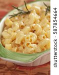 Small photo of American mac and cheese, macaroni pasta with cheesy sauce