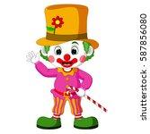 vector illustration of funny... | Shutterstock .eps vector #587856080