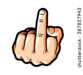 hand gesture  fuck you  symbol. ...   Shutterstock .eps vector #587857943