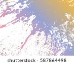 blot  spray paint filled with a ...   Shutterstock .eps vector #587864498