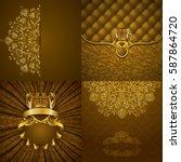 set of luxury ornate...   Shutterstock .eps vector #587864720
