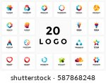 logo circle creative sign...   Shutterstock .eps vector #587868248