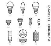 led light lamp bulbs vector...