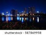 night city | Shutterstock . vector #587869958