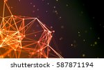 abstract polygon triangles... | Shutterstock . vector #587871194