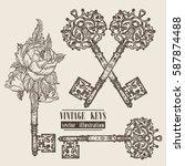 ornamental medieval vintage... | Shutterstock .eps vector #587874488