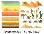 desert seamless background... | Shutterstock .eps vector #587874569