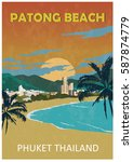 Poster Of Patong Beach. Phuket...