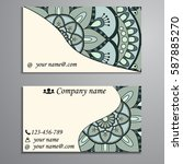 visiting card and business card ... | Shutterstock .eps vector #587885270