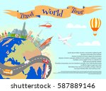 Travel World Tour Poster With...