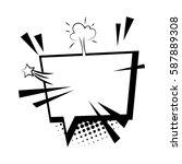 comics book sketch explosion...   Shutterstock .eps vector #587889308