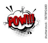 lettering pow  bang  shoot.... | Shutterstock .eps vector #587892680