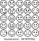 smile icon on white background   Shutterstock .eps vector #587895983