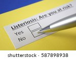listeriosis  are you at risk ... | Shutterstock . vector #587898938