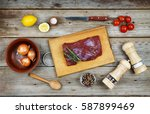 raw beef  spices and vegetables ...
