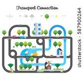 road traffic. transport... | Shutterstock .eps vector #587900264
