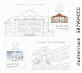 architectural plan of building...   Shutterstock .eps vector #587904050