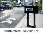 Drive Thru Sign With Shop...