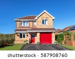 beautiful detached house with... | Shutterstock . vector #587908760