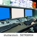video monitoring security... | Shutterstock . vector #587908904